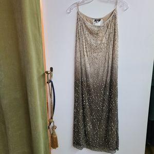 NWT Giorgio Armani Silk Ombre Maxi Skirt